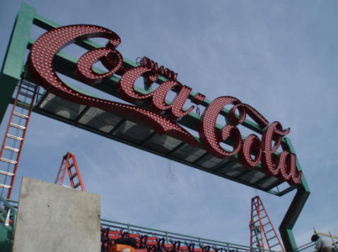 Coke sign at Fenway Park