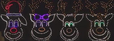 Animated Lighting's Singing Reindeer Faces