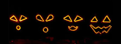 Animated Lighting's Singing Pumpkin Faces